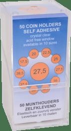 WL Munthouders zelfklevend 37,5 mm 50 stuks